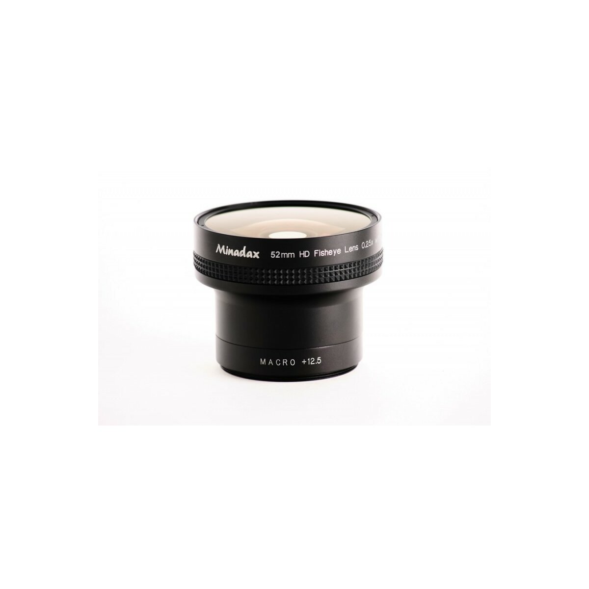 0.25x Minadax Fisheye Vorsatz kompatibel mit Canon Powershot A610, A620, A630, A640 - in schwarz