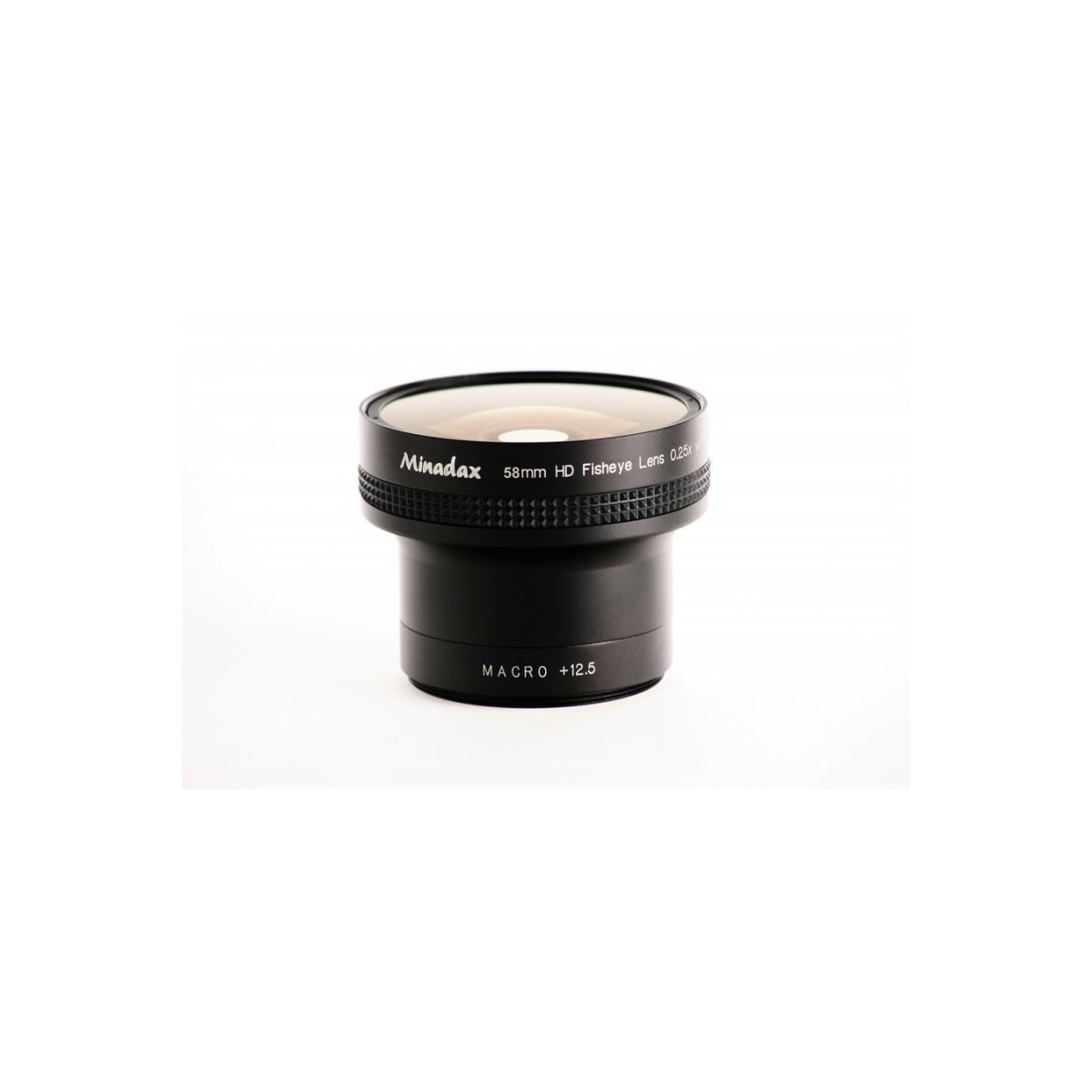 Minadax 0.25x Fisheye Vorsatz kompatibel mit Canon Powershot G9 - in schwarz