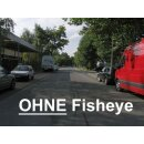 0.25x Minadax Fisheye Vorsatz fuer Olympus C-2100 (Ultra Zoom), E-100RS - in schwarz