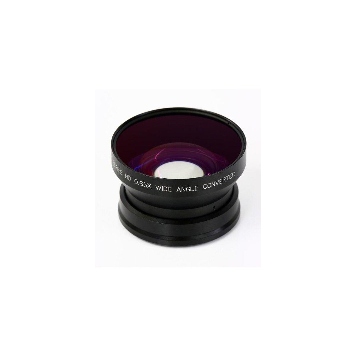0.65x Weitwinkel Adapter kompatibel für Sony DCR-VX2100, DCR-VX2000, DSR-PD150, DSR-PD170, DSR-250, DSR-200, DSR-220A