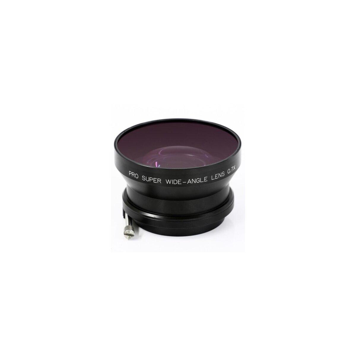 0.7x Weitwinkel Objektiv (Voll durchzoombar) fuer Video Objektive mit 85mm Aussendurchmesser bzw. 82mm Filter Durchmesse