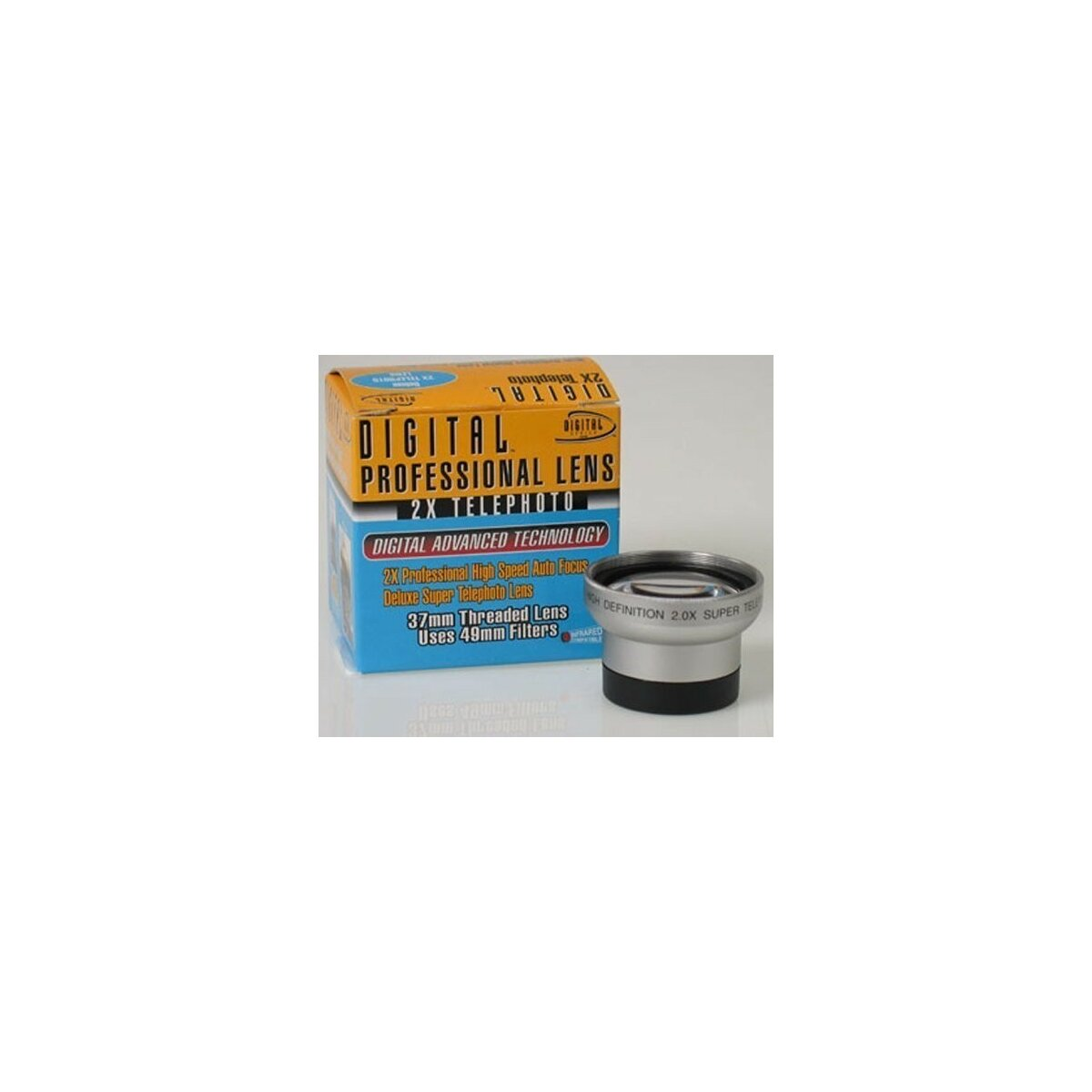 2.0x Telekonverter von Digital Optics fuer Canon MVX10i, MVX30i, Panasonic NV-GS17, JVC GR-D815, Hitachi DZ-HS501 usw.