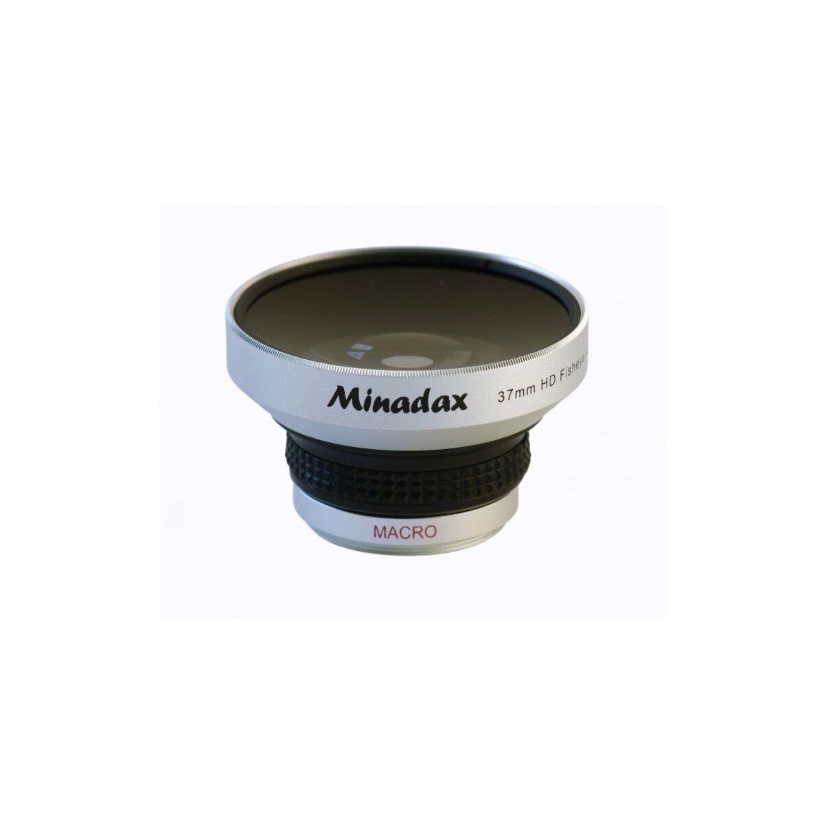 Minadax 0.25x Fisheye Vorsatz kompatibel mit Canon HV10, HR10, HF10, HF11, HG20, HG21, DC40, DC50, HF100, LEGRIA HF20, LEGRIA HF21