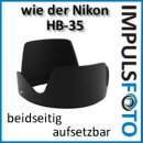 Minadax Sonnenblende fuer Nikon Objektiv AF-S DX Zoom Nikkor 18-200mm f/3.5-5.6G IF-ED VR - aehnlich HB-35