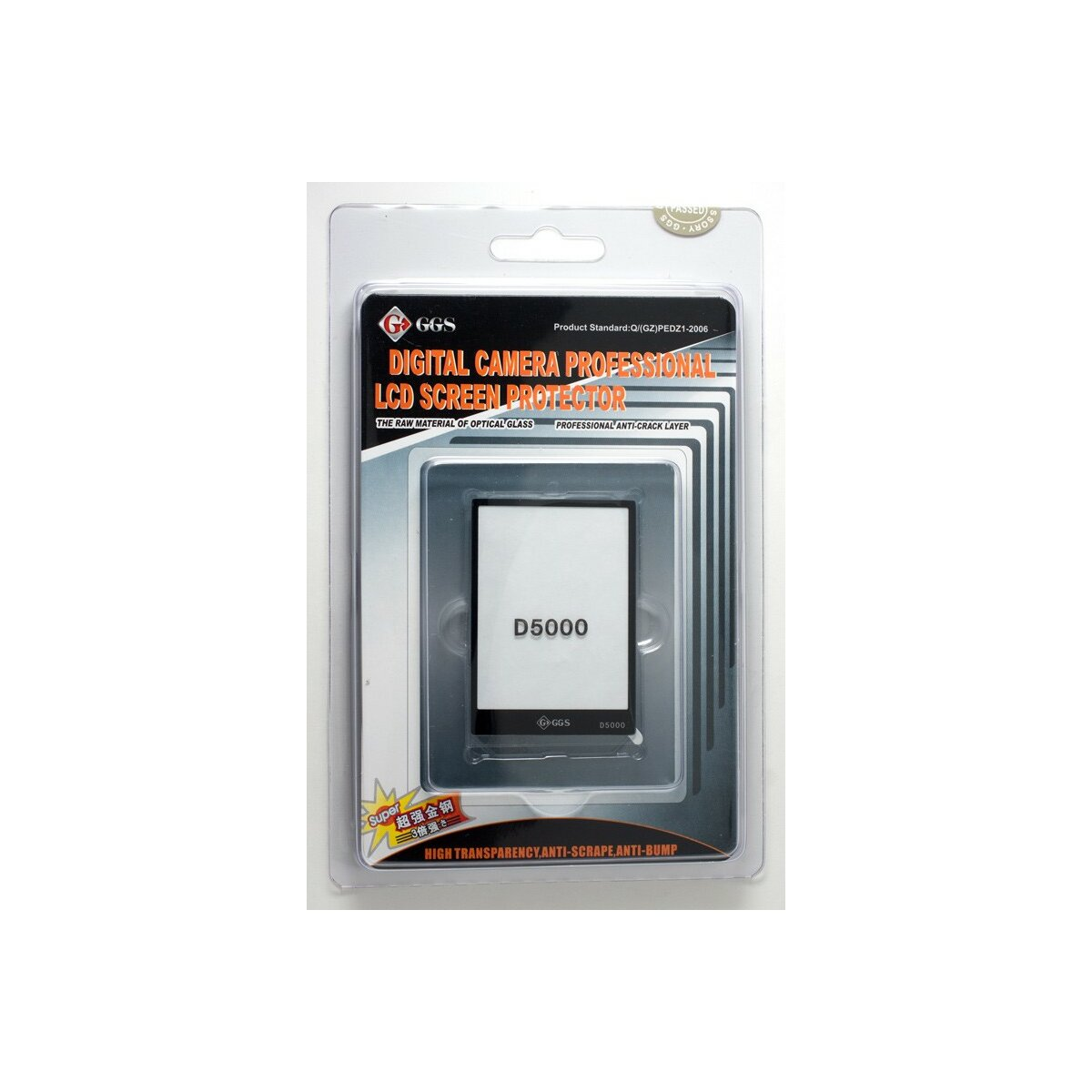 GGS Displayschutz aus Glas fuer Nikon D5000 optisch verguetetes Echtglas Protector