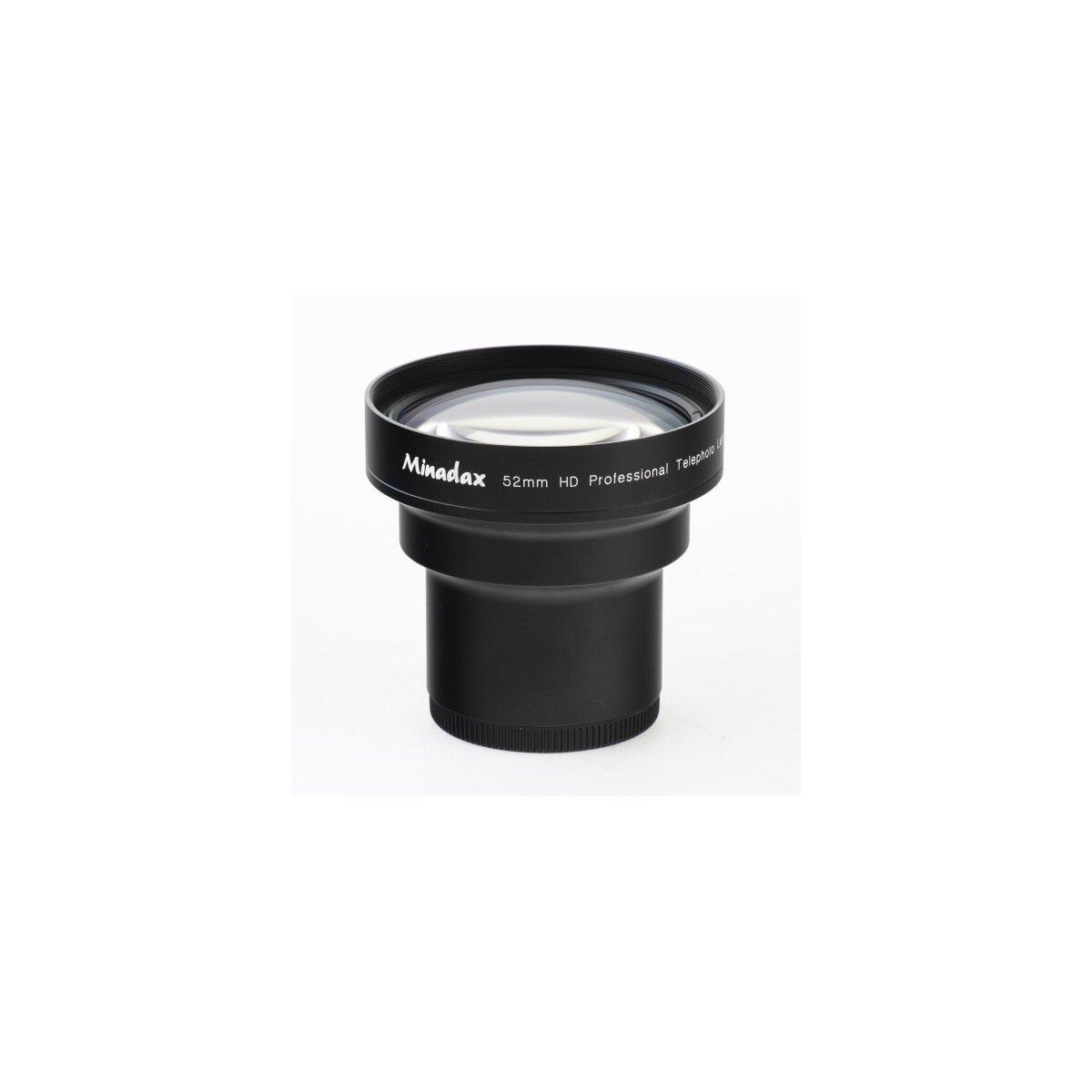 1.7x Minadax Tele Vorsatz kompatibel für Casio Exilim Pro EX-P505