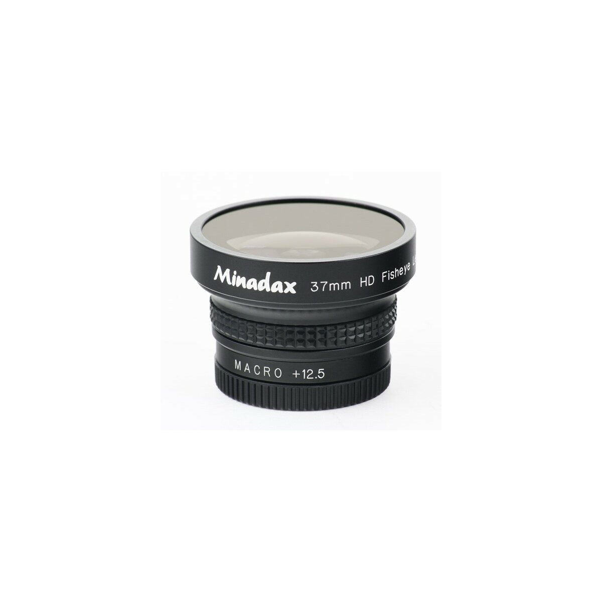 0.42x Minadax Fisheye Vorsatz fuer JVC GZ-MG330REX, GZ-MG330HEG, GZ-MG330AEX, GZ-MG331HEG, GZ-MG335HEX, GZ-MG365HEX, GZ-MG435BEX, GZ-MG465BEX, GZ-MG610, GZ-MG630, GZ-MG645