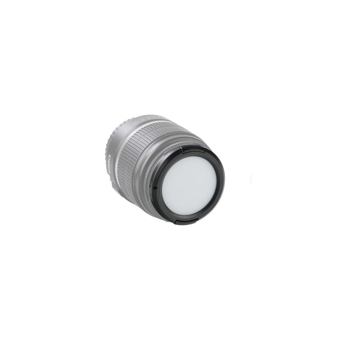 Weißabgleich Schnappdeckel 49mm - White Balance Cap 49mm - Graukarte, Objektivdeckel