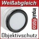 Weißabgleich Schnappdeckel 55mm - White Balance Cap 55mm - Graukarte, Objektivdeckel