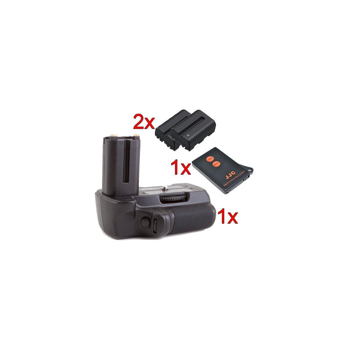 Meike Profi Batteriegriff fuer Sony Alpha A450, A300 und A200 als VG-B30AM Ersatz + 2 NP-FM500H Nachbau-Akkus + 1x Infrarot Fernbedienung!