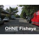 0.25x Minadax Fisheye Vorsatz kompatibel für Fujifilm FinePix HS10, S6500fd, S9500, S9600 - in silber