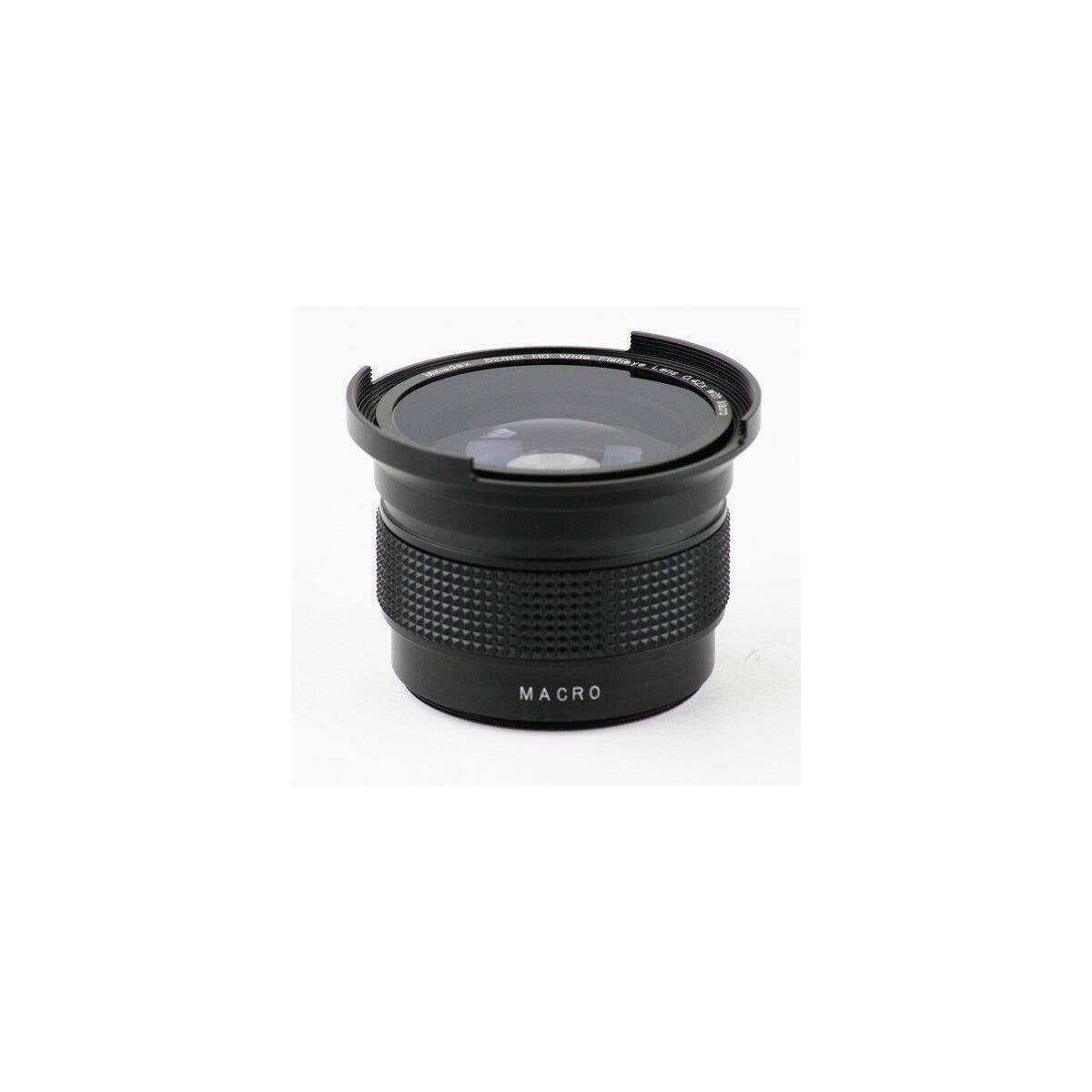 Minadax 0.42x Fisheye Vorsatz kompatibel mit Canon Powershot A30, A40