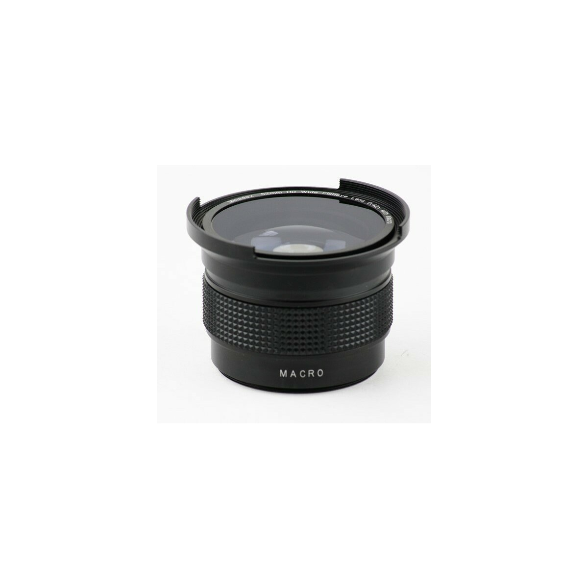 Minadax 0.25x Fisheye Vorsatz kompatibel mit Canon Powershot A60, A70, A75, A85 - in schwarz
