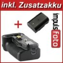 Minadax Profi Batteriegriff fuer Pentax K-5 und K-7 als D-BG4 Ersatz + 1 Pentax D-Li90 Nachbau-Akku
