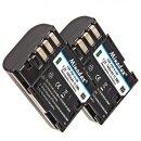 2x Minadax® Li-Ion Akkus kompatibel mit Pentax 645D,...