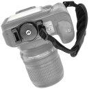 Lederhandschlaufe fuer alle SLR- und DSLR-Kameras (IF-HS3A) - Canon, Nikon, Sony Alpha, Minolta, Pentax, Sigma, Olympus etc.