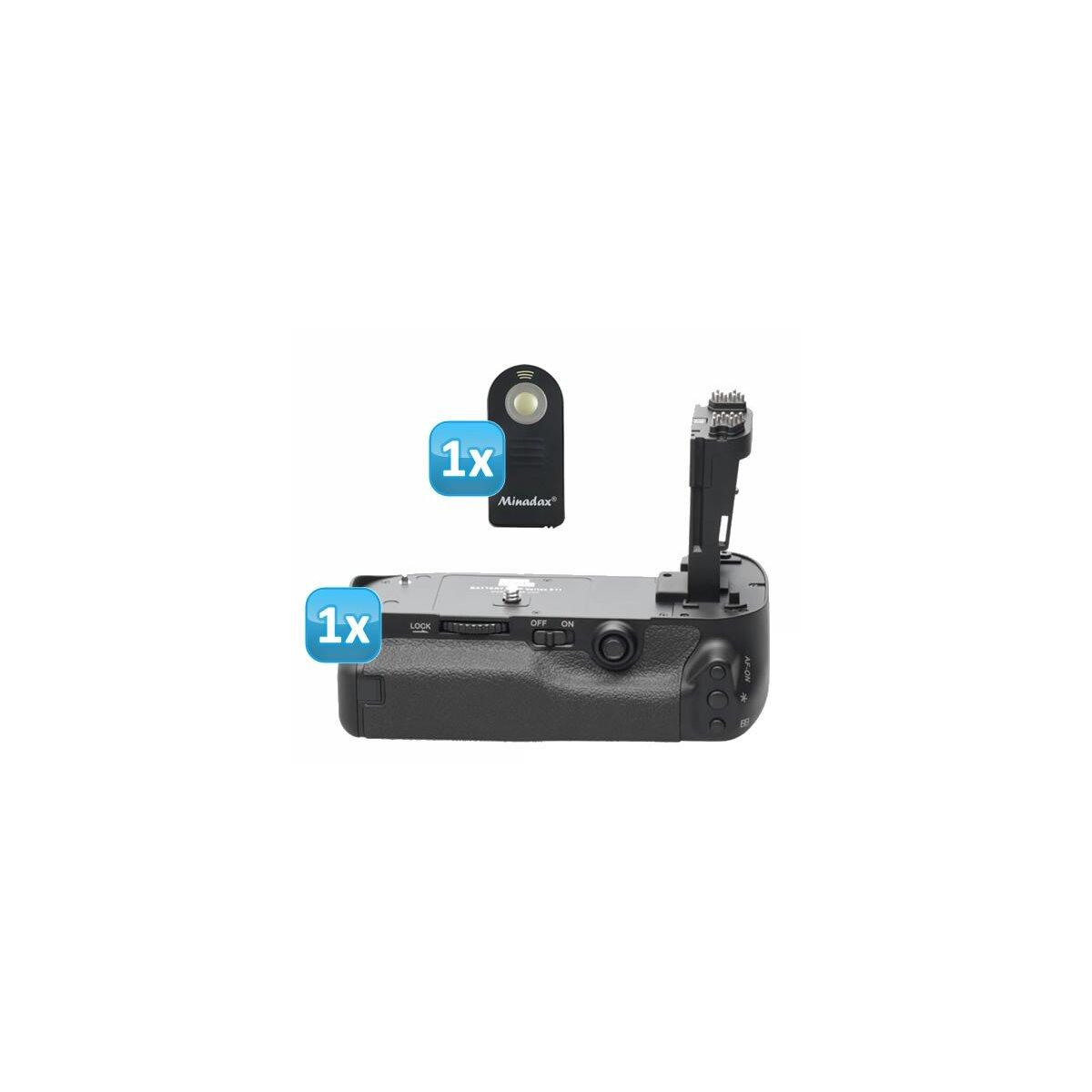 PIXEL Qualitäts Profi Batteriegriff Vertax kompatibel mit Canon EOS 5D Mark III - Multifunktions-Handgriff für 5D Mark 3 Ersatz für BG-E11 + 1x Infrarot Fernbedienung
