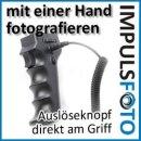 JJC Profi Fernauslöser Einhandaufnahmen Pistolen Handgriff kompatibel mit Canon EOS 50D, 40D, 30D, 20D, 10D, 7D, 6D, 5D Mark III, 5D Mark II, 5D, 1D Serie, EOS 3, D60