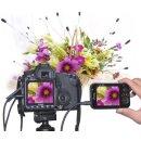 """PIXEL Qualitäts Profi Kabelfernauslöser mit 7,2 cm (2,8"""") LiveView Display kompatibel mit Canon EOS 650D, 600D, 550D, 500D, 60D, PowerShot G12"""