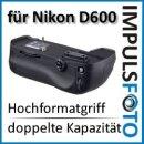 Qualitaets Profi Batteriegriff von Vertax kompatibel für Nikon D610, D600 - Ersatz für MB-D14 für 2x EN-EL15 oder 6x AA Batterien