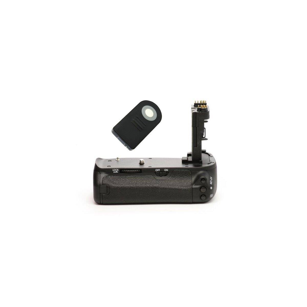 Minadax Profi Batteriegriff kompatibel für Canon EOS 6D - Ersatz für BG-E13 - für 2x LP-E6 und 6x AA Batterien + 1x Infrarot Fernbedienung!