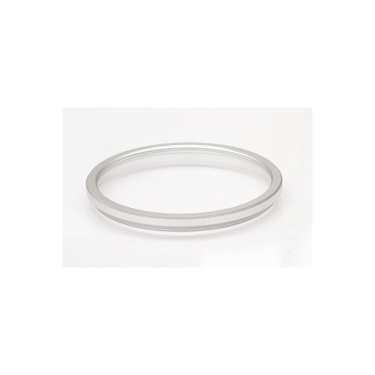 Adapterring 55mm - 52mm: 55mm Außengewinde und 52mm Innengewinde (Step Down Ring) - in silber